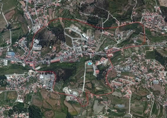 Limite territorial da Área de Reabilitação Urbana das Termas de S. Vicente (ARUTSV)