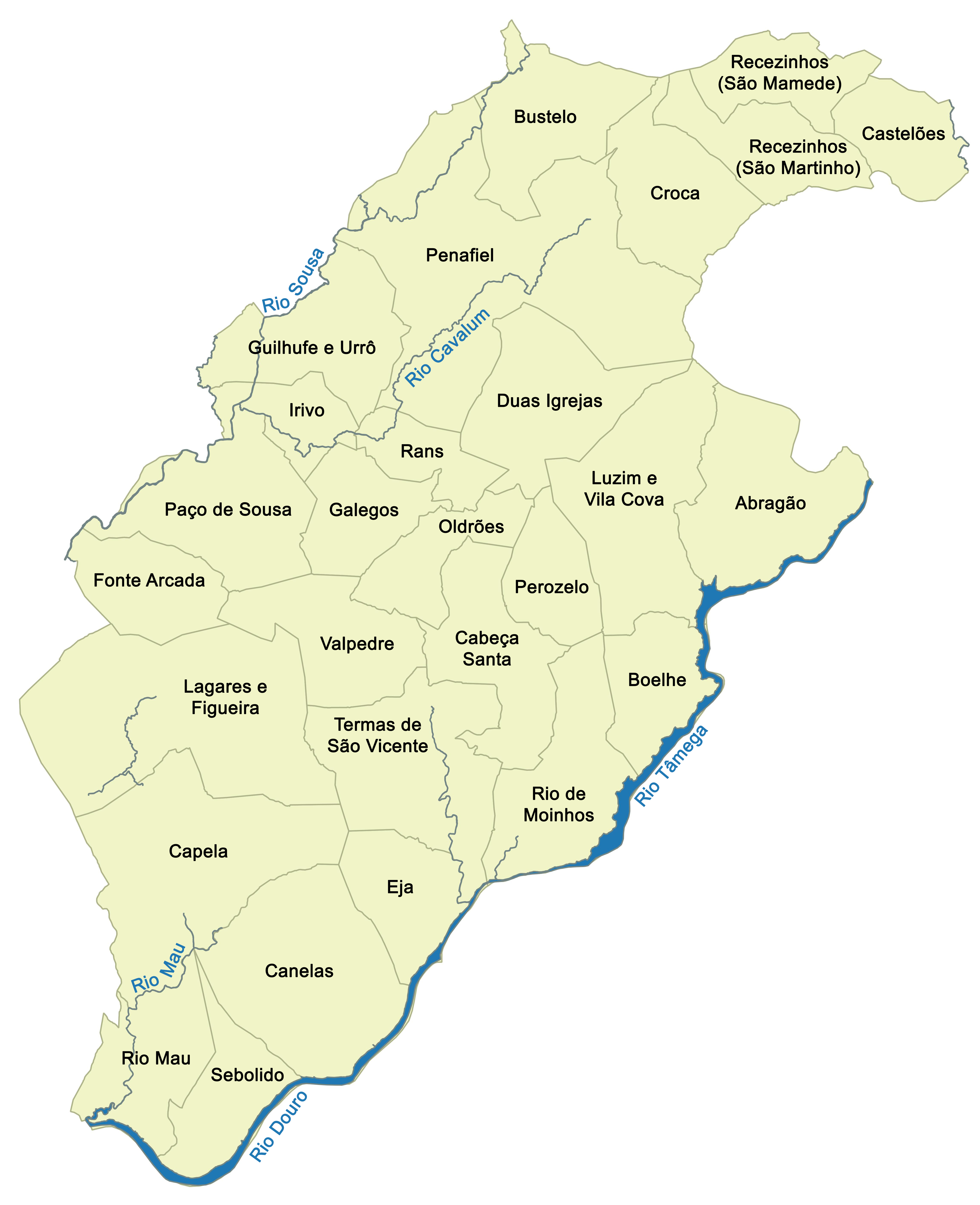 municipio-juntas de freguesia penafiel