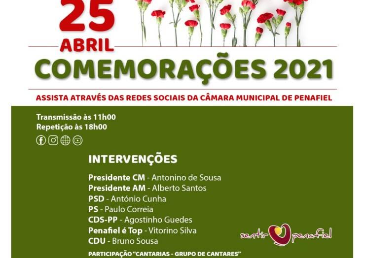CÂMARA DE PENAFIEL CELEBRA 25 DE ABRIL COM CERIMÓNIA ONLINE